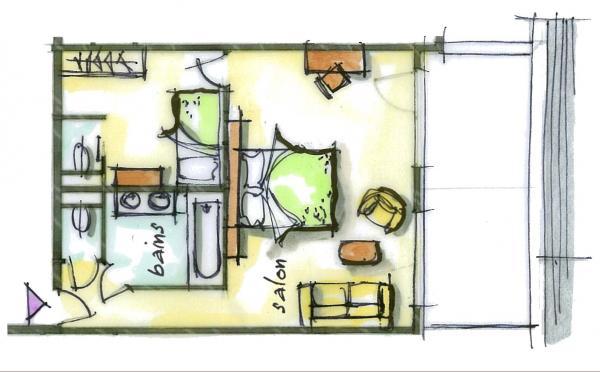 Hôtel le Blizzard_Suite junior Village_plan