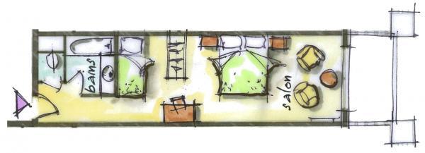 Hôtel le Blizzard_Luxe Village_plan 31m²