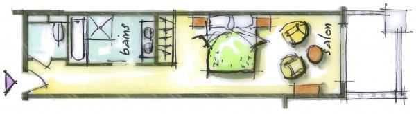 Hôtel le Blizzard_Luxe Supérieure Village_plan